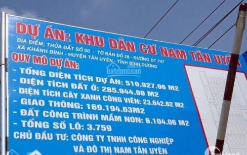 Bán đất nền kdc Nam Tân Uyên ,mặt tiền đường DT746 . 0981801233