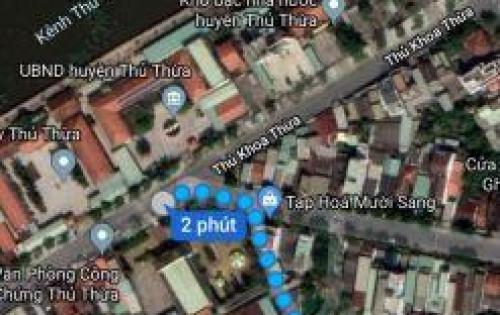 Đất xây trọ khu dân cư đông đúc tại Thị Trấn Thủ Thừa gần KCN Long Hậu