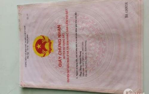 bán gấp lô đất chính chủ thổ cư 100%, sổ sẵn gần chợ Phú phong- LH: 0917.880.375