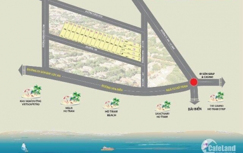 Bán đất nền dự án Xã Phước Thuận, Huyện Xuyên Mộc,gần Hồ Tràm,có SHR.