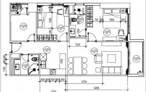Chính chủ cần bán căn hộ 3pn dự án Sky Park Residence, số 3 Tôn Thất Thuyết, 91 m2, full nội thất, căn góc tầng đẹp.
