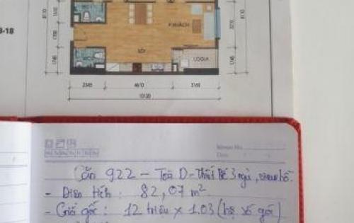 Chính chủ bán căn hộ chung cư thanh hà - mường thanh 82m , view hồ , 3 pn