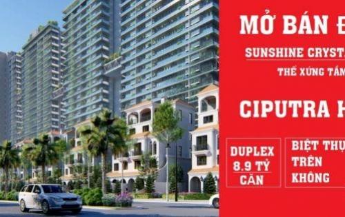 Bán căn duplex Sunshine Crystal River Ciputra, 5PN 160m2 view sân golf, NT nhập Italia 0983918483