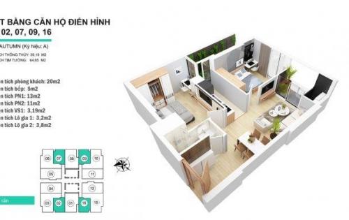 Bán GẤP căn 16 tầng đẹp của dự án 3 tỷ, nội thất cơ bản bao phí sang tên!