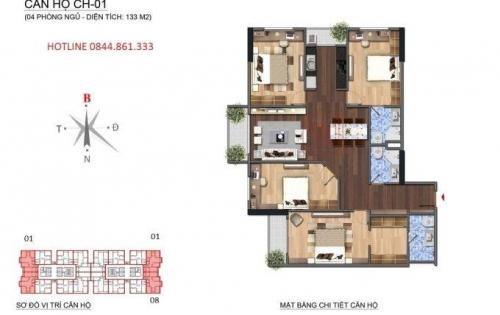 Bán căn hộ chung cư tại Dự án N01-T1 Ngoại Giao Đoàn, Bắc Từ Liêm, Hà Nội diện tích 133m2  giá 4.190 Tỷ