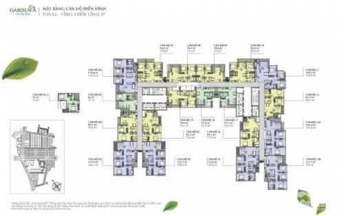 [Vin Gardenia] Chính chủ gửi bán căn góc 02 tòa A2, tầng đẹp, nội thất nguyên bản CĐT, hướng mát