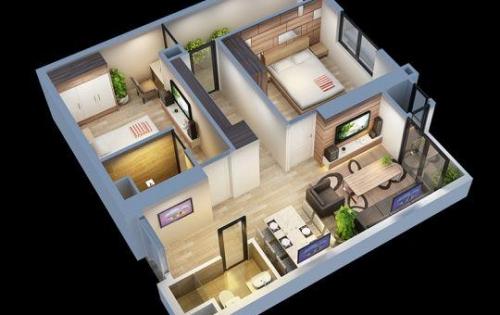 Căn hộ 02 phòng ngủ toà A4 chung cư An Bình City