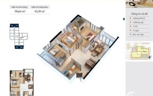 Ebu.vn - Goldmark City bán căn góc 3 ngủ, full nội thất. L/h: 0986031296