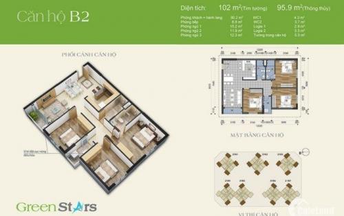 [ebu.vn] Green Star bán căn hộ 3 ngủ, nội thất cơ bản