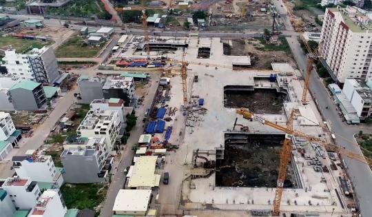 Xây dựng trái phép, dự án 13.000 căn hộ bị xử phạt, tạm ngừng thi công