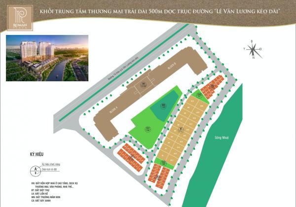 Bản đồ dự án căn hộ Roman Plaza