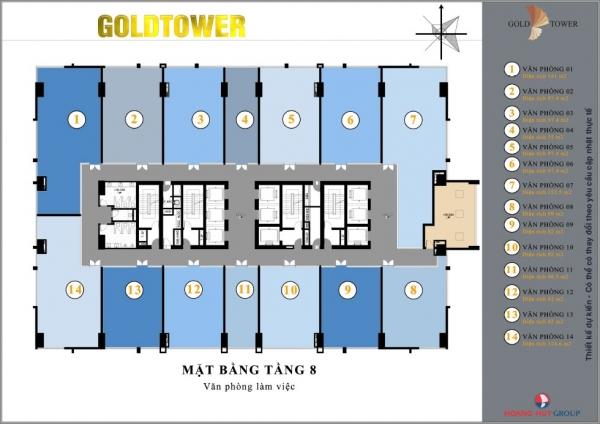 Căn hộ chung cư Gold Tower 4