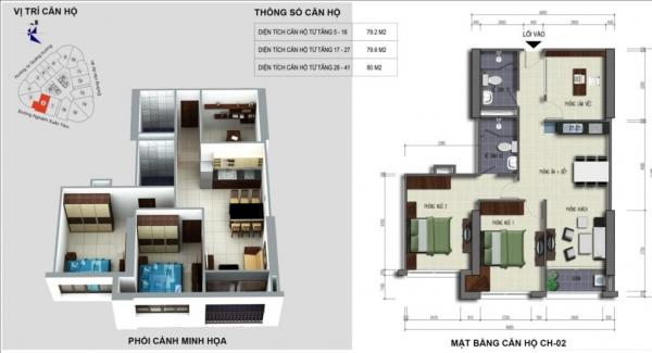 Dự án Căn hộ chung cư VC2 Golden Heart