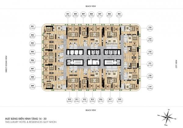 dự án căn hộ TMS Luxury Hotel & Residence Quy Nhon