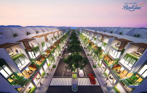 Phối cảnh nhà phố ParaGrus tại Cam Ranh, tỉnh Khánh Hòa