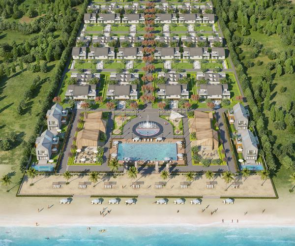 Phối cảnh tổng thể dự án Perolas Villa Bình Thuận