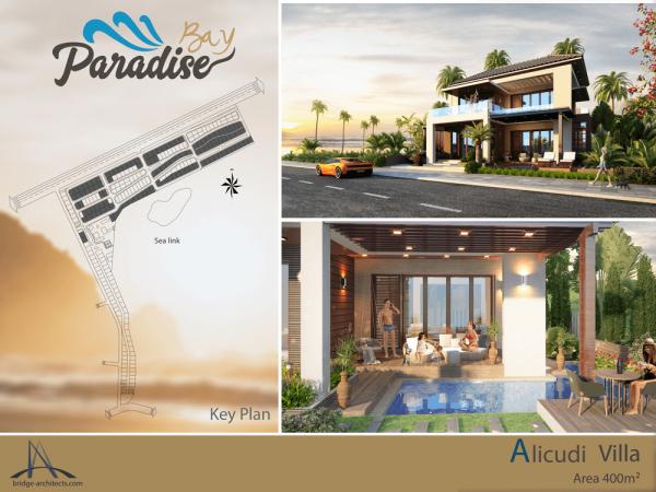 Mặt bằng và phối cảnh căn biệt thự Adiculi của dự án Paradise Bay Phan Thiết