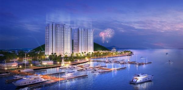Phối cảnh tổng thể dự án condotel Best Western Premier Sapphire Ha Long
