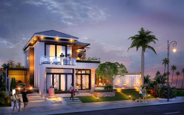Phối cảnh căn biệt thự điển hình dự án nghỉ dưỡng Paradise Bay Phan Thiết