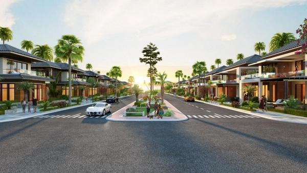Phối cảnh dãy biệt thự nghỉ dưỡng Paradise Bay Phan Thiết