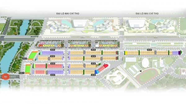 Mặt bằng phân lô dự án nhà phố Sari Town – khu đô thị Sala quận 2