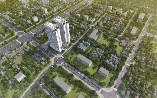 Phối cảnh tổng thể dự án Athena Complex – Pháp Vân Hà Nội