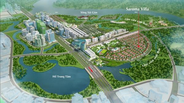 Phối cảnh dự án khu biệt thự Saroma Villa tại quận 2