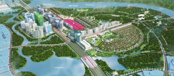 Phối cảnh khu đô thị Sala – dự án nhà phố thương mại Sari Town tại quận 2