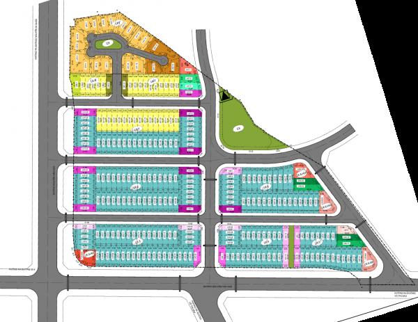 Mặt bằng tổng thể khu biệt thự Văn Hoa Đồng Nai