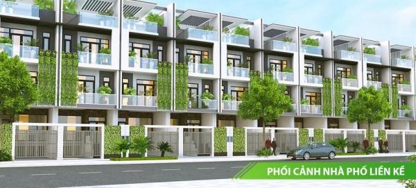 Phối cảnh dãy nhà phố liền kề tại dự án Đất Nam Luxury