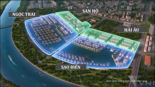 Mặt bằng phân khu dự án Vinhomes Marina