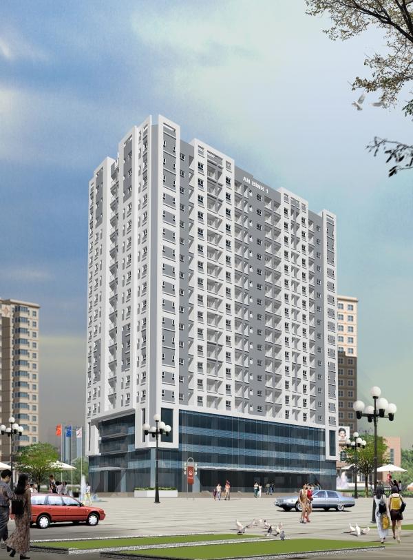 Phối cảnh tổng thể dự án chung cư An Bình I quận Hoàng Mai