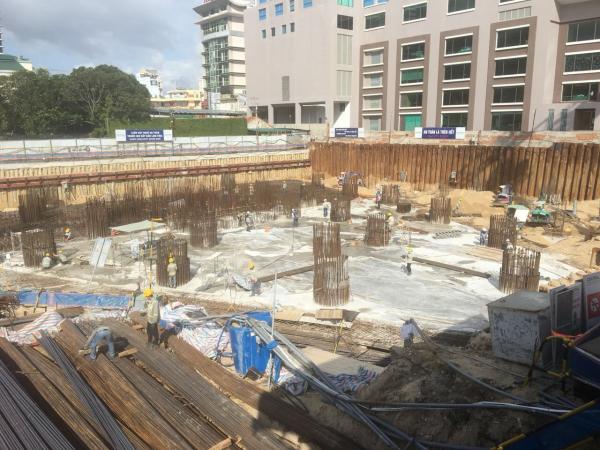 Beau Rivage Nha Trang đang trong quá trình thi công móng cọc và đổ sàn tầng hầm (tháng 12/2018)