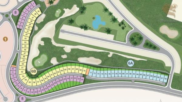 Mặt bằng phân lô dự án biệt thự Para Draco Cam Ranh
