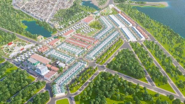 Phối cảnh tổng thể dự án Tân An Riverside Bình Định