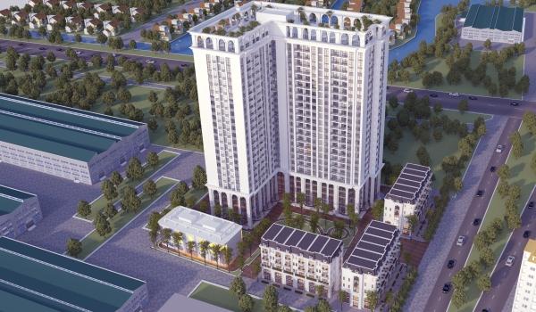 Phối cảnh tổng thể dự án khu dân cư TSG Lotus Sài Đồng quận Long Biên