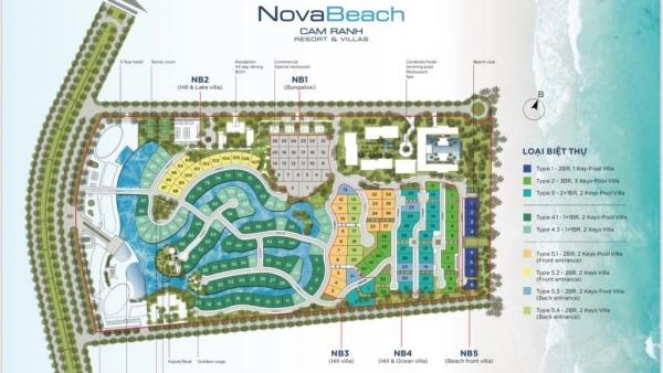 Mặt bằng tổng thể dự án Novabeach Cam Ranh