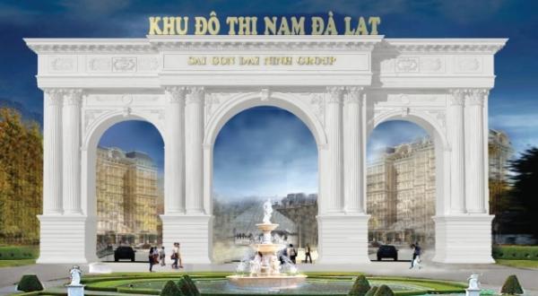 Phối cảnh một góc cổng chào khu đô thị Nam Đà Lạt