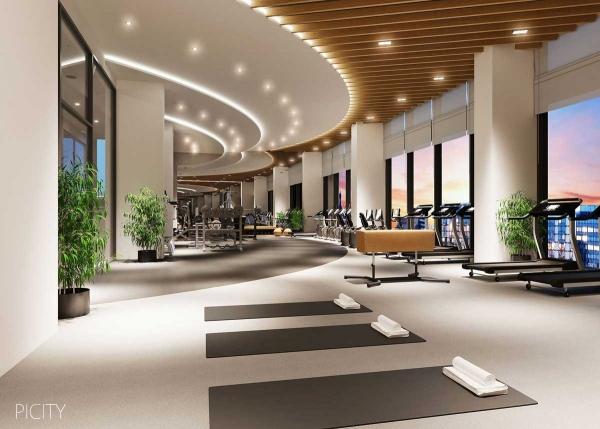Phối cảnh khu tập gym trong dự án Picity High Park