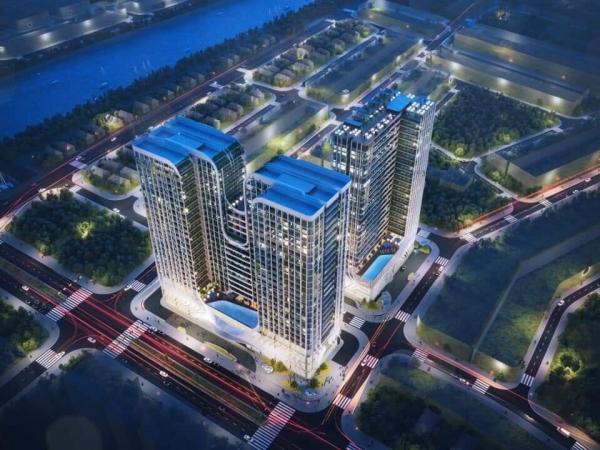 Phối cảnh tổng thể khu phức hợp One River Đà Nẵng