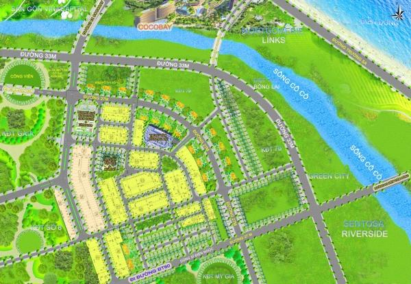 Mặt bằng tổng thể dự án Homeland Blue House tỉnh Quảng Nam