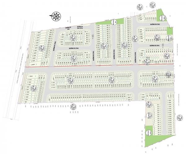 Mặt bằng phân lô dự án Lộc Phát Residence tỉnh Bình Dương