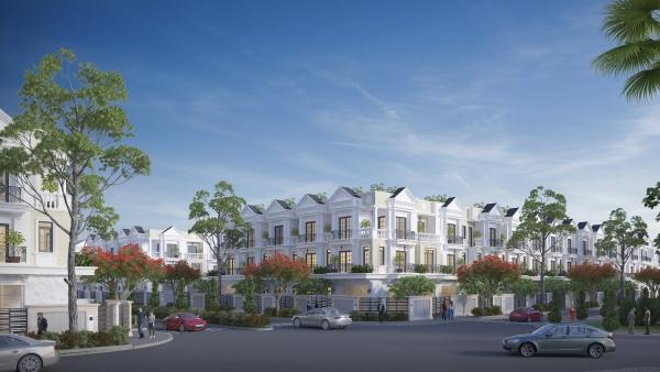 Phối cảnh dãy nhà phố dự án Tiến Lộc Garden