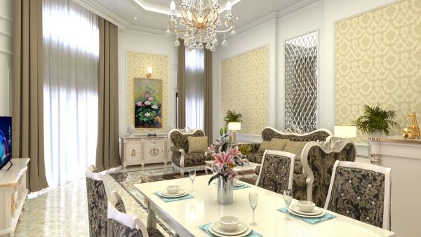 Phòng bếp nhà mẫu dự án khu dân cư Lộc Phát Residence