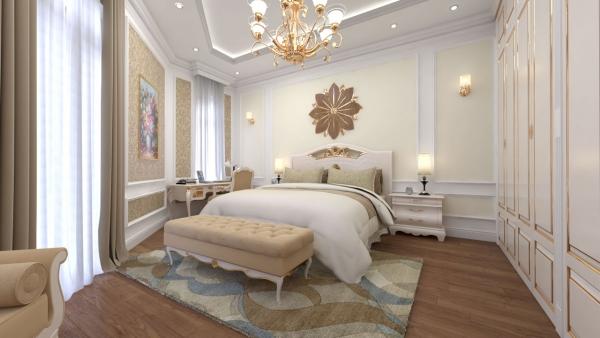 Phòng ngủ nhà mẫu dự án khu dân cư Lộc Phát Residence