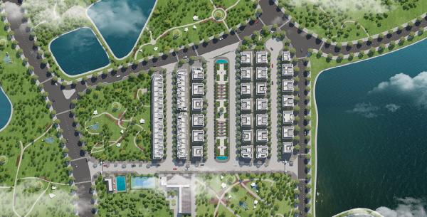 Mặt bằng tổng thể dự án Elegant Park Villa quận Long Biên