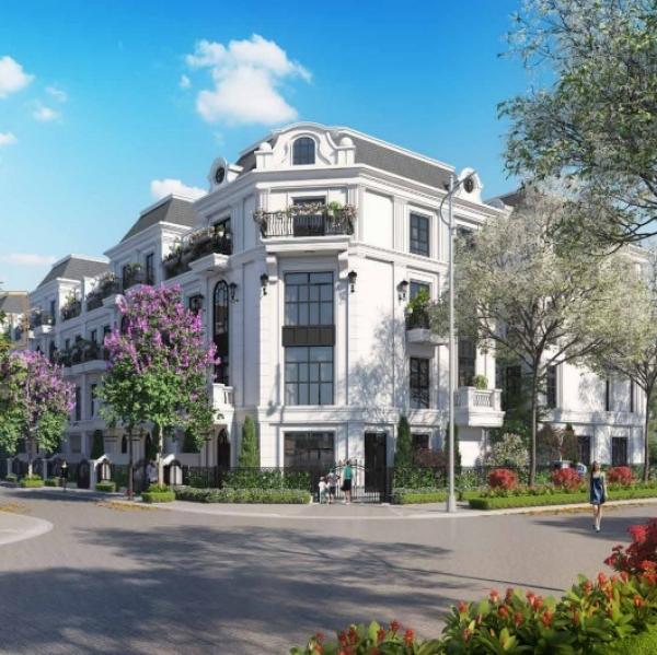 Phối cảnh căn nhà phố liền kề trong khuôn viên dự án Elegant Park Villa
