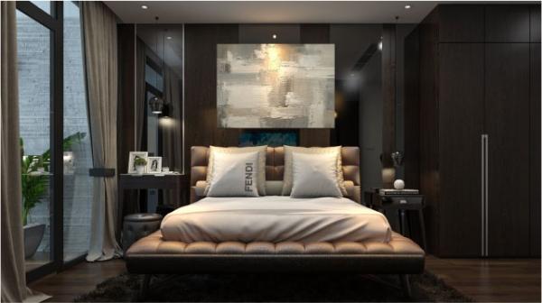Phối cảnh phòng ngủ căn hộ mẫu dự án Sunshine Crystal River quận Tây Hồ