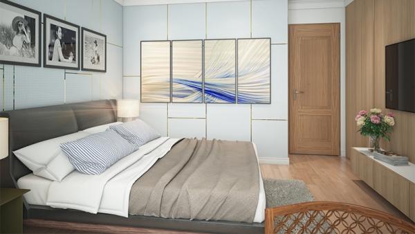 Phối cảnh phòng ngủ nhà mẫu dự án Housinco Premium Hà Nội