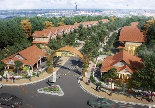 Phối cảnh khuôn viên dự án biệt thự vườn Haya Home tỉnh Long An